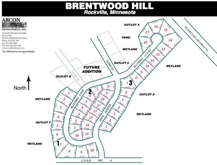 arcon development brentwood hill rockville mn real estate lots for sale